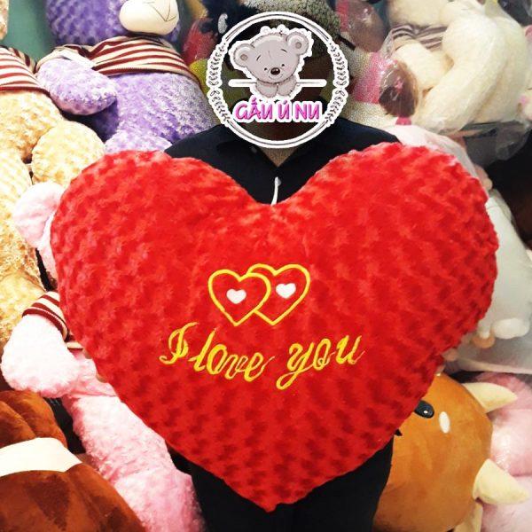 "Gối Gối Trái Tim ""I Love You"" (70 x 50 cm)"