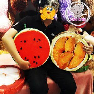 Gối trái cây 3D: Dưa Hấu + Sầu Riêng